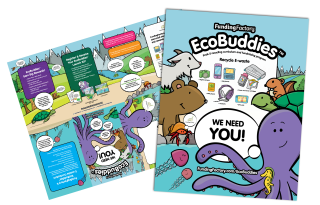 Ecobuddies direct mail with fold out poster
