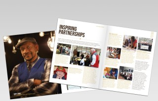 Erie Community Foundation Annual Report Spread by PAPA Advertising in Erie, PA