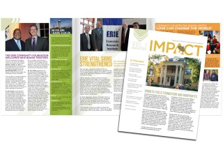 Erie Community Foundation's Newsletter by PAPA Advertising in Erie, PA