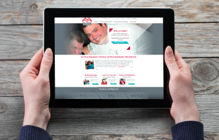 Mobile version of EHCA's new fully responsive website