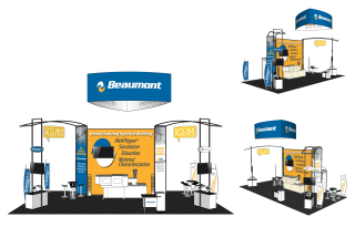 Mock-up for Beaumont's tradeshow display