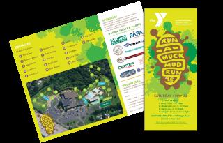 YMCA's 2015 Run-a-Muck Mud run trifold brochure